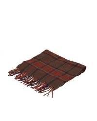 Sciarpa di cotone scozzese bordeaux