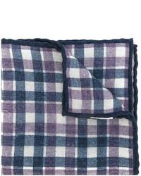 Sciarpa di lana a quadri blu scuro di Eleventy