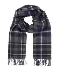 Sciarpa di lana a quadri grigio scuro di Jack & Jones