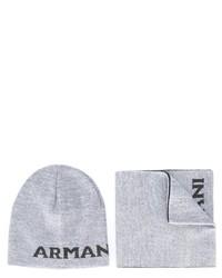 Sciarpa di lana grigia di Armani Junior