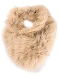 Sciarpa di pelliccia beige