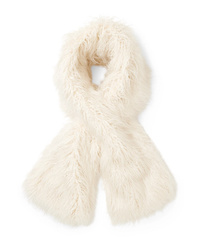 Sciarpa di pelliccia bianca di Emma Brewin
