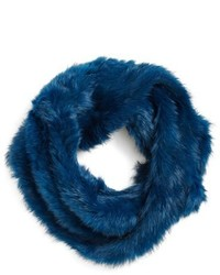 Sciarpa di pelliccia blu
