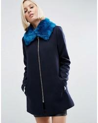Sciarpa di pelliccia blu di Asos