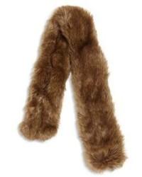 Sciarpa di pelliccia marrone