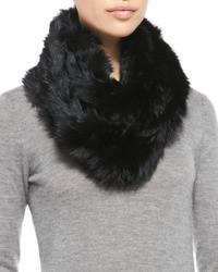 Sciarpa di pelliccia nera