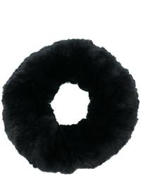 Sciarpa di pelliccia nera di Yves Salomon