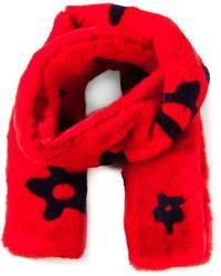 Sciarpa di pelliccia rossa