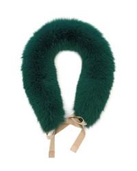 Sciarpa di pelliccia verde scuro