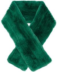 Sciarpa di pelliccia verde di Yves Salomon