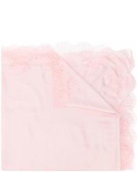 Sciarpa di pizzo rosa di Valentino
