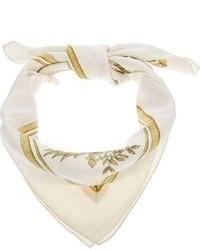 Sciarpa di seta stampata bianca