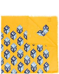 Sciarpa di seta stampata gialla di Gucci