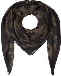 Sciarpa di seta stampata nera