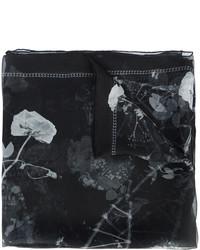 Sciarpa di seta stampata nera di Alexander McQueen