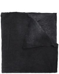 Sciarpa di seta stampata nera di Avant Toi