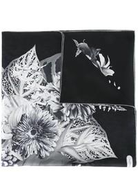 Sciarpa di seta stampata nera di Salvatore Ferragamo