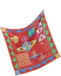 Sciarpa di seta stampata rossa