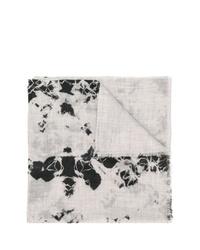 Sciarpa effetto tie-dye grigia di Suzusan