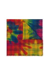 Sciarpa effetto tie-dye multicolore di Burberry