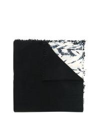 Sciarpa effetto tie-dye nera e bianca di Suzusan