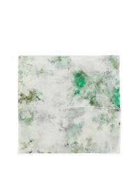 Sciarpa effetto tie-dye verde oliva di Avant Toi