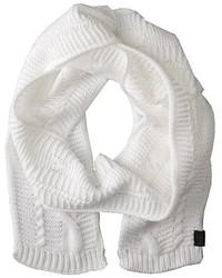 Sciarpa lavorata a maglia bianca