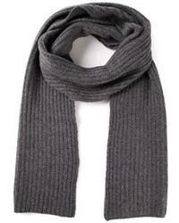 Sciarpa lavorata a maglia grigio scuro