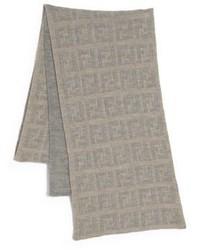 Sciarpa lavorata a maglia marrone chiaro