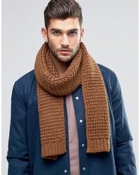 Sciarpa lavorata a maglia marrone di Asos