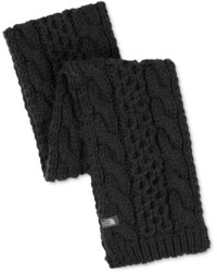 Sciarpa lavorata a maglia nera