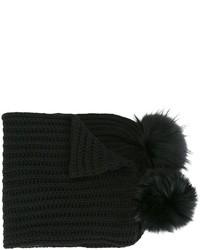 Sciarpa lavorata a maglia nera di Blugirl