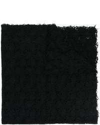Sciarpa lavorata a maglia nera di Faliero Sarti