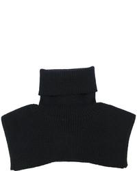 Sciarpa lavorata a maglia nera di MM6 MAISON MARGIELA