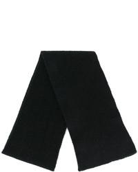Sciarpa lavorata a maglia nera di Roberto Collina