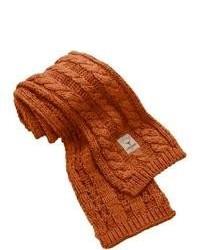 Sciarpa lavorata a maglia terracotta