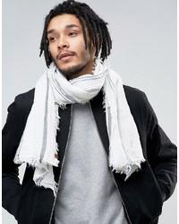 Sciarpa leggera a righe orizzontali bianca di Esprit
