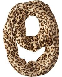 Sciarpa leopardata marrone chiaro