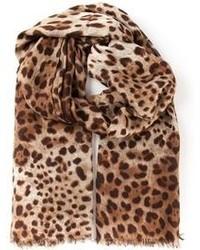 selezione migliore d6b22 4e99e Sciarpe leopardate marroni da donna | Moda donna | Lookastic