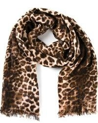 Sciarpa leopardata marrone di By Malene Birger