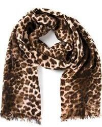 Sciarpa leopardata marrone di By Malene Birger