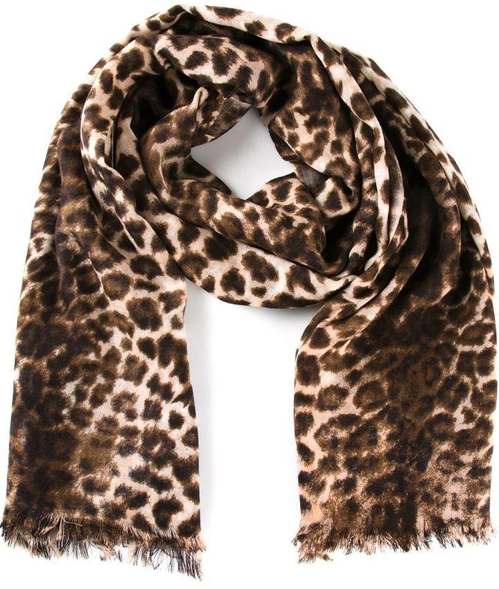 nuovo arrivo 66ea1 3ab5b Sciarpa leopardata marrone di By Malene Birger