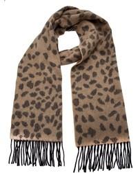 Sciarpa leopardata marrone di Lucien Pellat-Finet