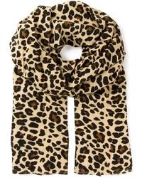 Sciarpa leopardata marrone
