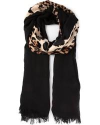 codice promozionale 55b79 41bb8 Sciarpe leopardate nere da donna | Moda donna | Lookastic
