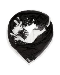 Sciarpa nera di Karl Lagerfeld