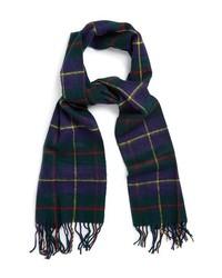 Sciarpa scozzese blu scuro e verde