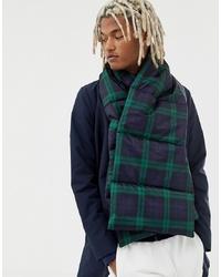 Sciarpa scozzese blu scuro e verde di ASOS DESIGN