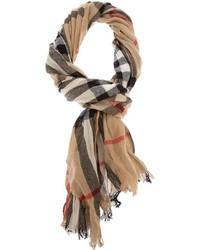 Sciarpa scozzese marrone chiaro di Burberry