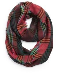 Sciarpa scozzese verde e rossa